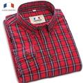 Langmeng 2016 горячий продавать бренд ретро клетчатые рубашки мужчины с длинным рукавом весна осень случайные рубашки высокого качества camisa masculina