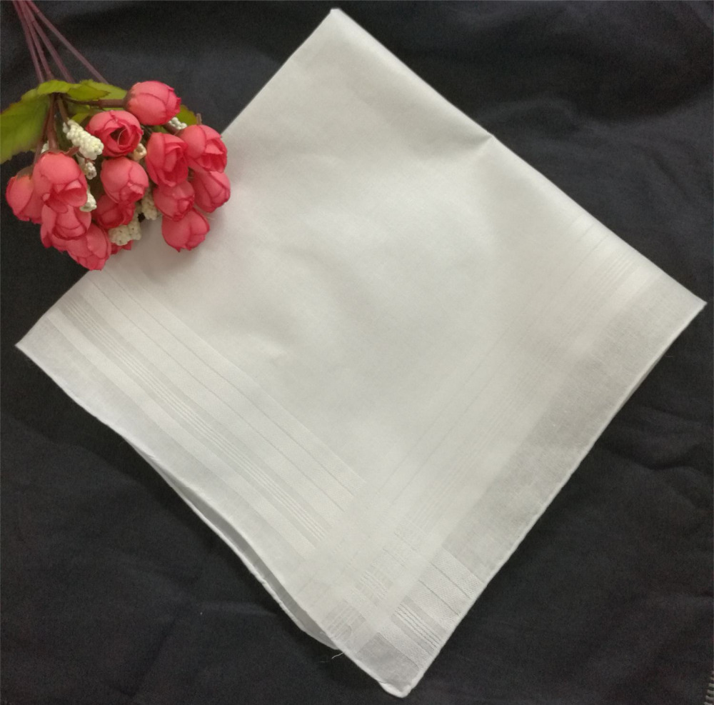 12PCS/Lot Fashion Striped Handkerchiefs 16.5x16.5