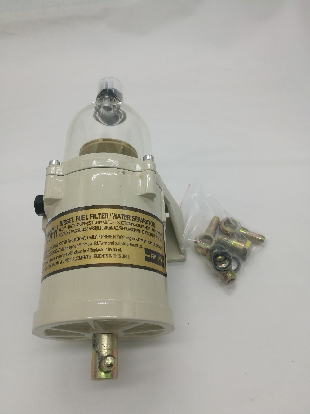500FG ASSEMBLY FUEL WATER SEPARATOR RACOR FILTER TURBINE DIESEL ENGINE FILTER MARINE SET PARTS INCLUDE 2010PM