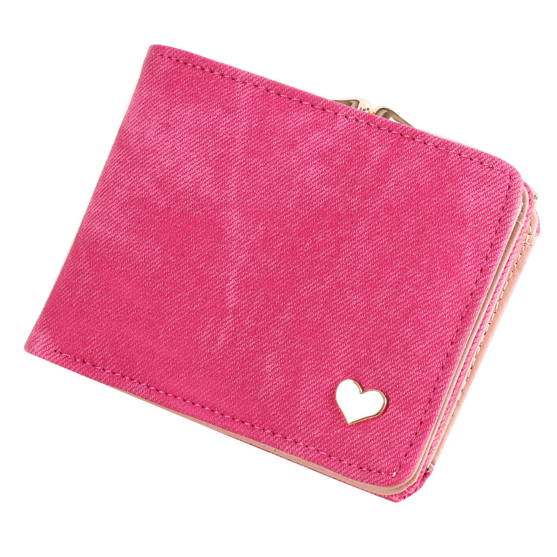New Woman Wallet Small Hasp Coin Purse For Women Luxury Leather Female Wallets Design Brand Mini Lady Purses Clutch Card Holder in red w edt spr