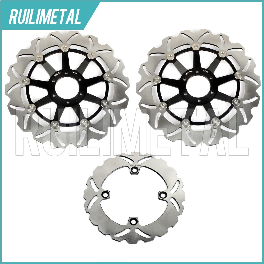 Front Rear Brake Discs Rotors for CB400N CBR 600 F SuperSport F3 95 96 97 98 CBR900RR VTR 1000 F FIRESTORM SUPER HAWK CBR400RR 94 95 96 97 98 99 00 01 02 03 04 05 06 new 300mm front 280mm rear brake discs disks rotor fit for kawasaki gtr 1000 zg1000