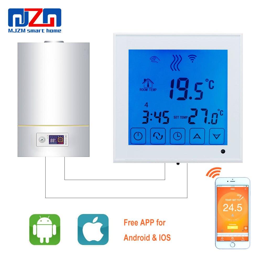 MJZM BGL03 1 WiFi Thermostat 220V Gas Boiler Heating Controller Digital Temperature Regulator for Boiler Program