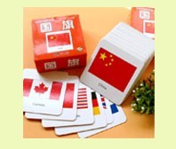 3D Cognitive Card Toy National Flag Cards Baby Enlightenment Early Educational Toys Montessori Material English Games Adult KidsBaby & Toddler Toys