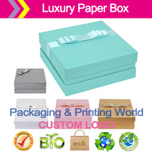 22 * 22 * 9 Jewelry cosmetics box Upscale gift paper package Exquisite gift packaging boxes accept logo customized(China)