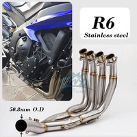 51MM New Middle pipe full System For YZF R6 R6 2006 2017 Motorcycle Modified Muffler Pipe Front Header Pipe Tube R6 exhaust