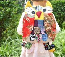 5pcs/lot New style OWl colorful bag Modern Vintage National characteristics patchwork Owl Backpacks