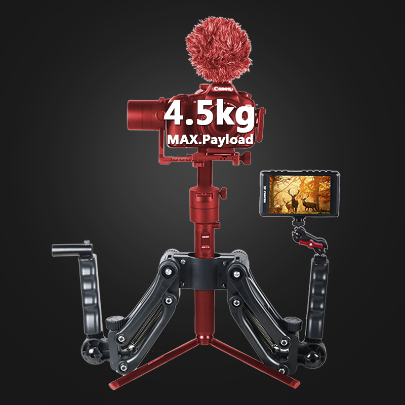 Gimbal Spring Dual Handheld Extended Arm Handle For Zhiyun Crane 2  M Plus Feiyu A1000 A2000 DJI RONIN S Smooth 4 Stabilizer