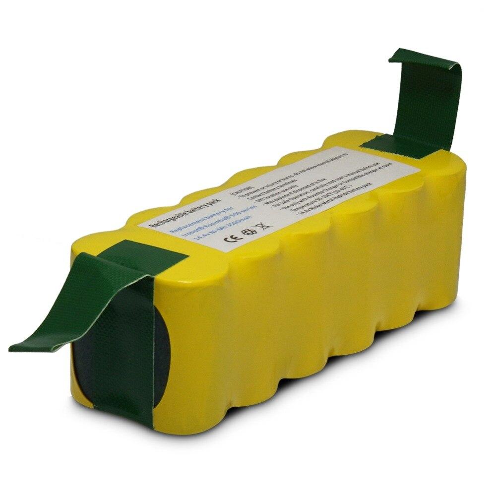 14.4 v 4500 mah Ni-MH Batterie Packs pour iRobot Roomba 620 610 630 650 660 aspirateur pièces de Haute qualité