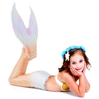 New Girl Mermaid Tail For Swimming Swimsuit Princess Baby Girl Mermaid Swimsuit With Monofin Can Walk