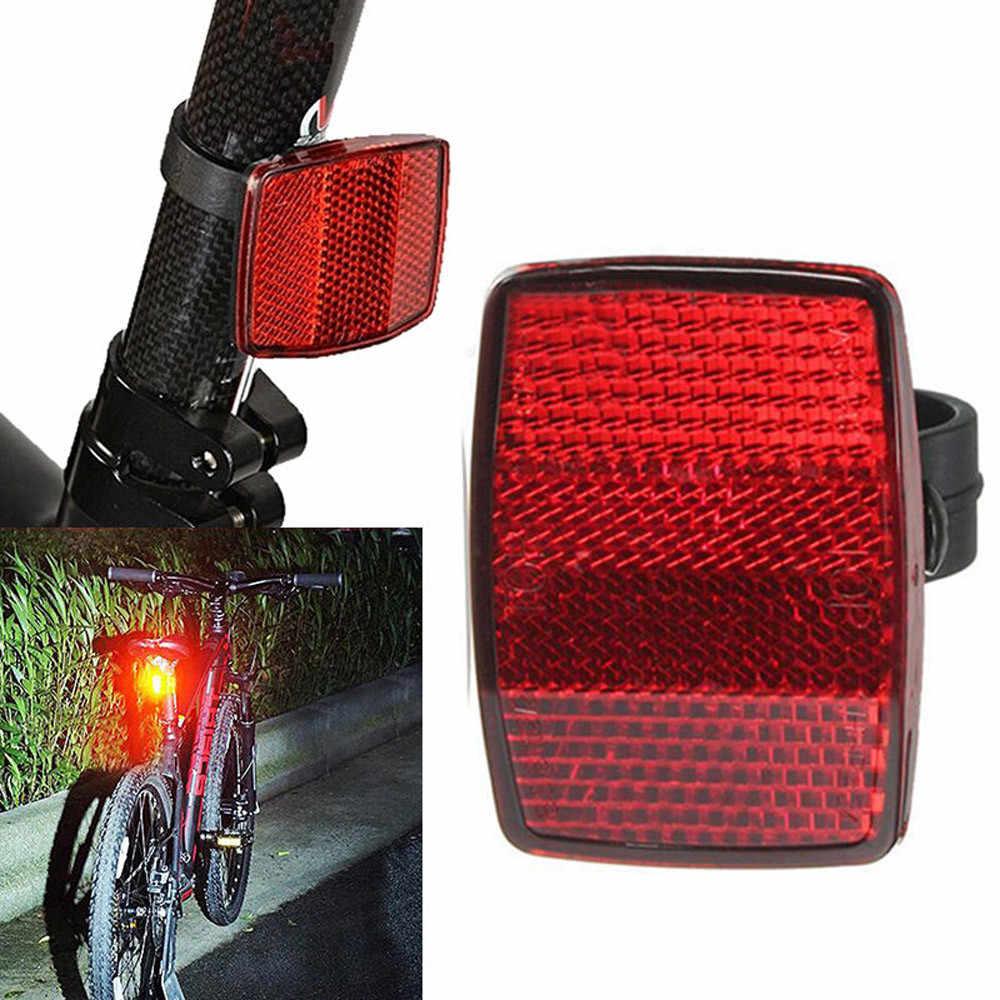 Sepeda Sepeda Reflektor Keselamatan Peringatan Lampu Handlebar Mount Aman Reflektor Sepeda Depan Belakang Peringatan Merah/Putih Baru