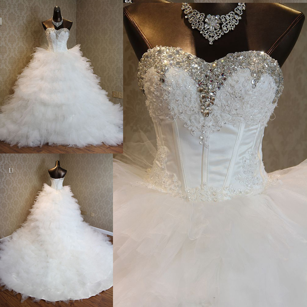Popular Crystal Bling Ball Gown Wedding Dress-Buy Cheap Crystal ...