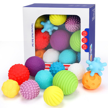 Baby Toys Hand Grasping Ball Soft Ball Textured Multi Ball Set Develop Baby's Tactile Senses Toy for Touch and Massage Soft Ball 1