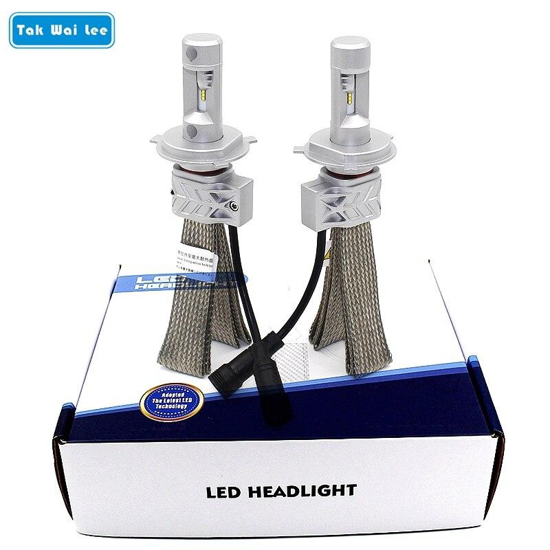 Tak Wai Lee 2X LED Car Headlight 22W 4000LM H4 H13 9004 Styling Hi/Lo Beam Integration Conversion Kit Front Auto Motorbike Bulb h4 car led headlight kit diamond h4 h13 9004 9007 hi lo beam headlight auto front bulbs 6000k 12v car lighting replacement bulbs
