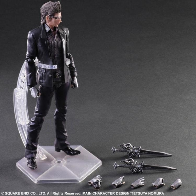 Free Shipping 9 PlayArts KAI Final Fantasy 15 Ignis Scientia Boxed 28cm PVC Action Figure Collection Model Doll Toy Gift free shipping 11 pa kai final fantasy vii cloud strife boxed 28cm pvc action figure collection model doll toy gift
