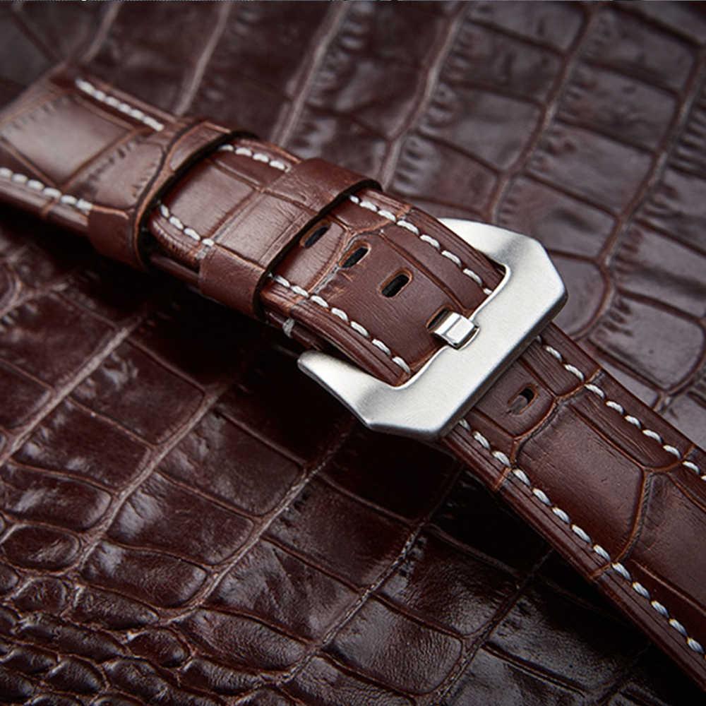 ของแท้หนังโบว์สำหรับนาฬิกาข้อมือสายรัด 20 มม./22 มม./24 มม./26 มม. สบายนาฬิกานาฬิกาอุปกรณ์เสริม