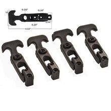 4 пачки Т-образной ручки резиновые гибкие фиксаторы для инструментов/охладитель/Гольф-карт/сельскохозяйственной техники-черный