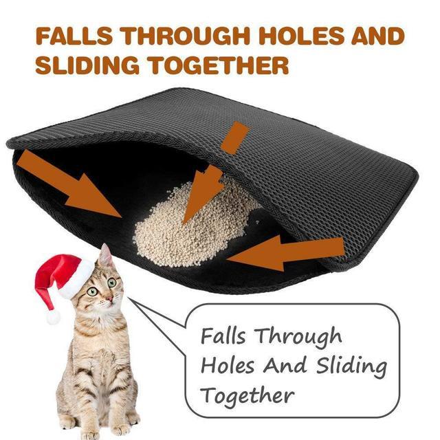 Pet Cat Litter Mat Double Layer Litter Cat Bed Pads Trapping Pets Litter Box Mat Pet Product Bed For Cats House Clean mat- 2