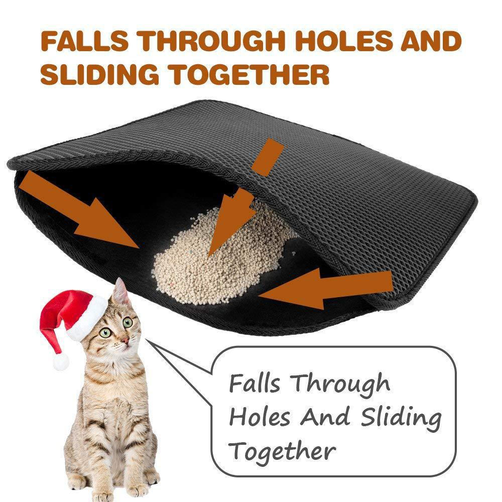 Waterproof Cat Litter Mat With Smooth Larger Holes For Cats House Clean 1