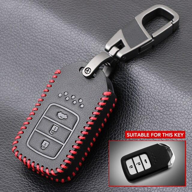 Anahtar şekli 3 düğme araba anahtarı durum kapak için Honda Accord 9 Crider şehir 2015 2016 HRV CRV Vezel spirior Odyssey Civic Fit yeşim