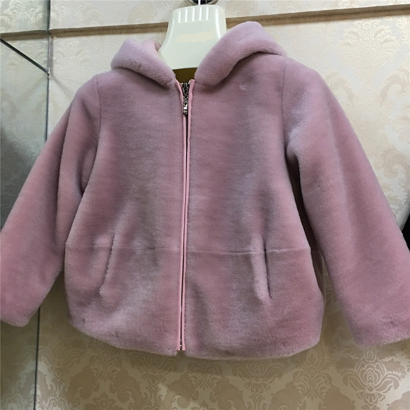 JKP 2018 Детская куртка с капюшоном из овечьей шерсти 100% импортная шерстяная куртка Экологически чистая теплая куртка ZPC 225 - 4