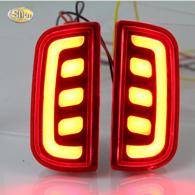 SNCN Led Rear Driving Lights For Honda Civic 2016 2017 Led Brake Lights  Rear Bumper Lamp Warning Light