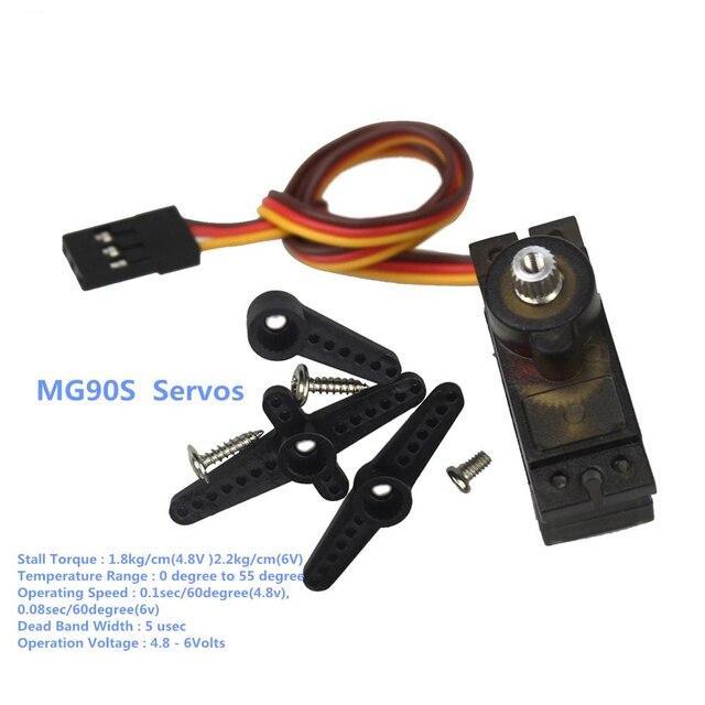 MG90S 9g Metal Gear Upgraded SG90 Digital Micro Servo