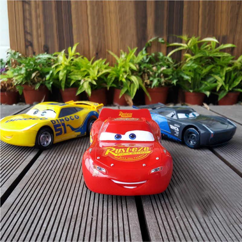 Disney Pixar Cars 3 22 см молния McQueen Джексон шторм Круз Рамирез откатная пластмассовая коллекционная машинка рождественские подарки для детей