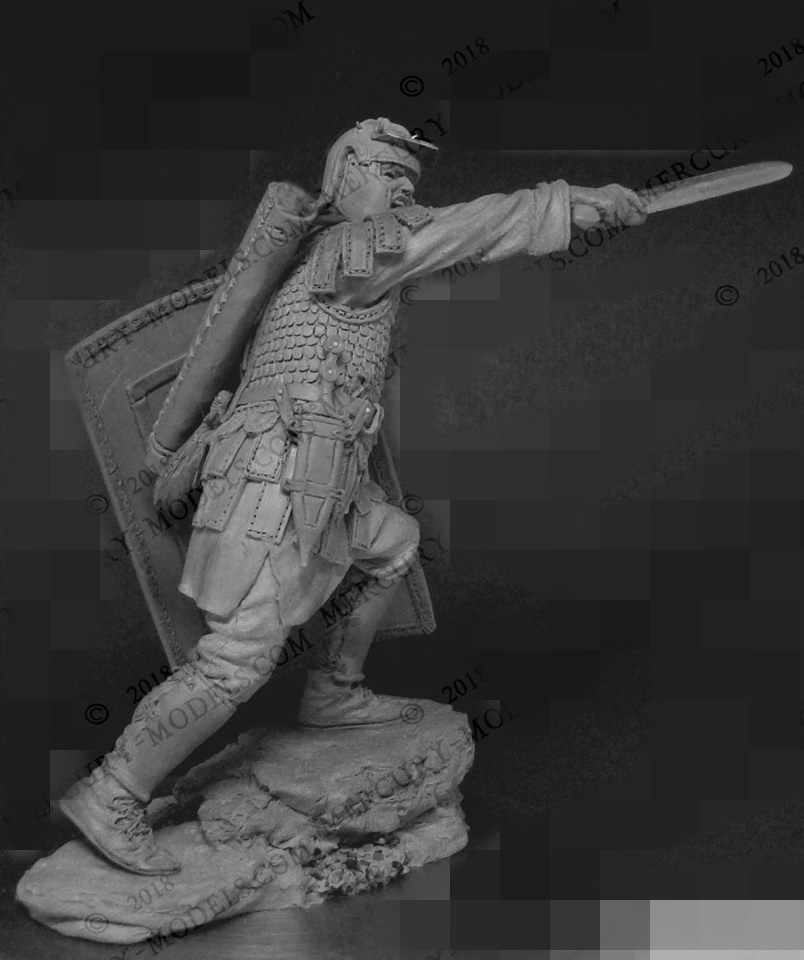 1:24 Resin Figure Model Kit Unassambled  Unpainted //G463 Roman warrior