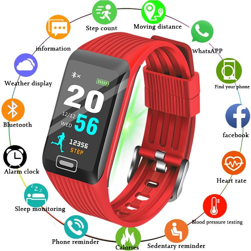 BANGWEI 2019 Sport Watch Women Men LED Waterproof Smart Fitness watch Heart rate Blood Pressure Pedometer Clock For Android iOS