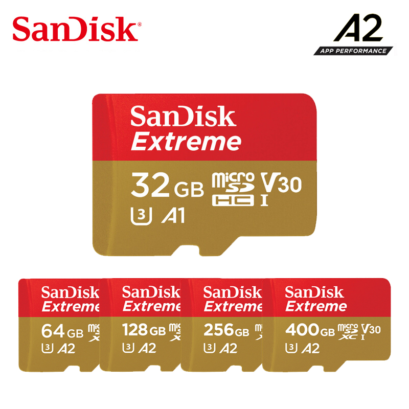 SanDisk Extreme Memory Card 400G 256G 128G 64G 32G A2/A1 Up To 100MB/s Read Speed Micro Sd Card Video Speed C10, V30, U3 2019 Ne
