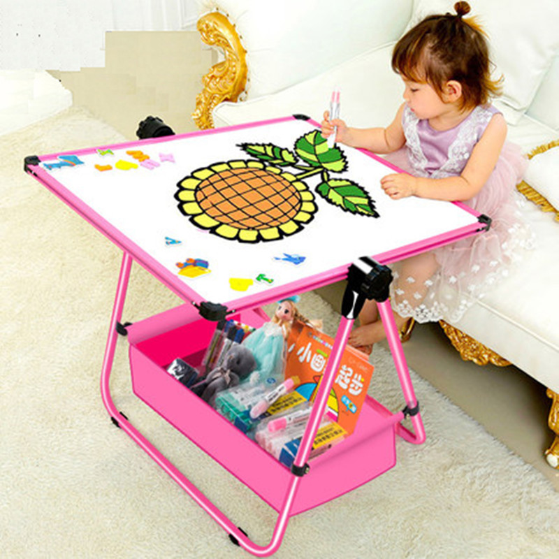 Children's magnetic plate household small blackboard graffiti board can lift and lift the baby Sketchpad