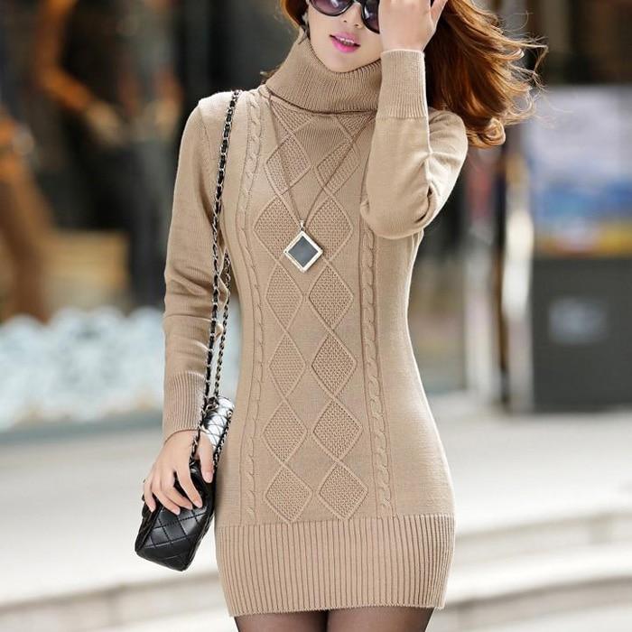 Womens Sweaters Fashion 2015 Autumn Thicken Women Long Sweater ...