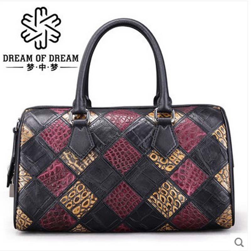 mengzhongmeng women boston bag crocodile women handbag alligator skin women bag alligator women bag вагина vibrating lady