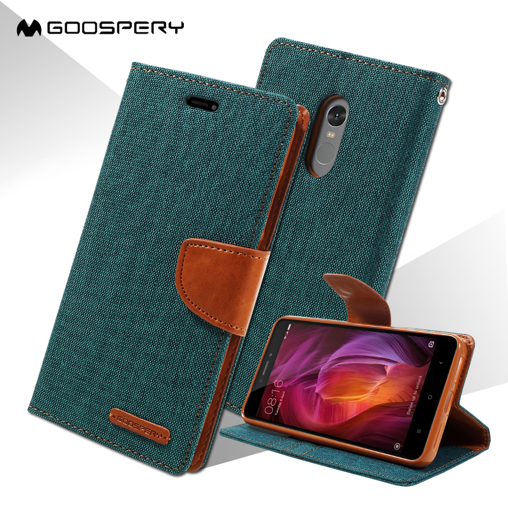 Mercury goospery coque for xiaomi xiaomi redmi note 4 case canvas leather leather - Xiaomi redmi note 4 case ...