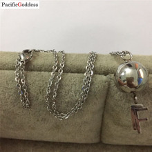 very nice stainless steel necklace big beads letter necklaces for best girl