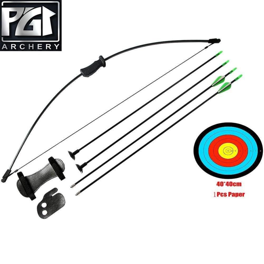 30//40Lbs YN-1 American Hunting Straight bow /& 12 Pcs Carbon arrow Archery Set