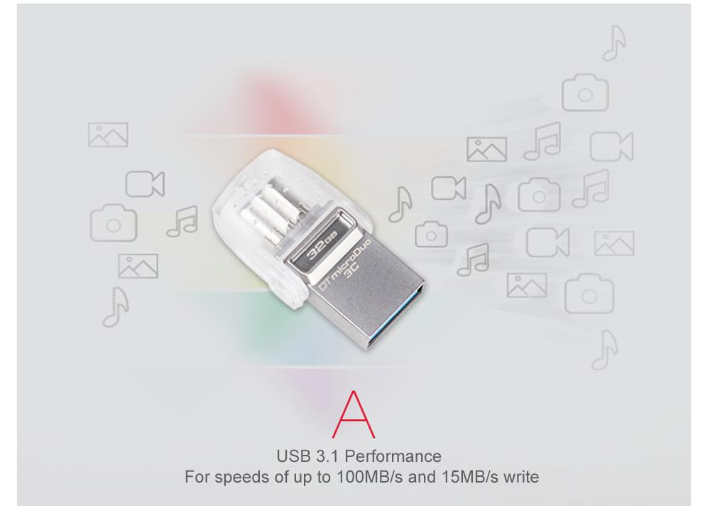 Kingston USB Flash Drive 64GB 32GB 16GB USB 3.1 Type-C Pendrive USB 3.0 Pen Drive Memory Stick for PC  Phone with Type-C Port (12)