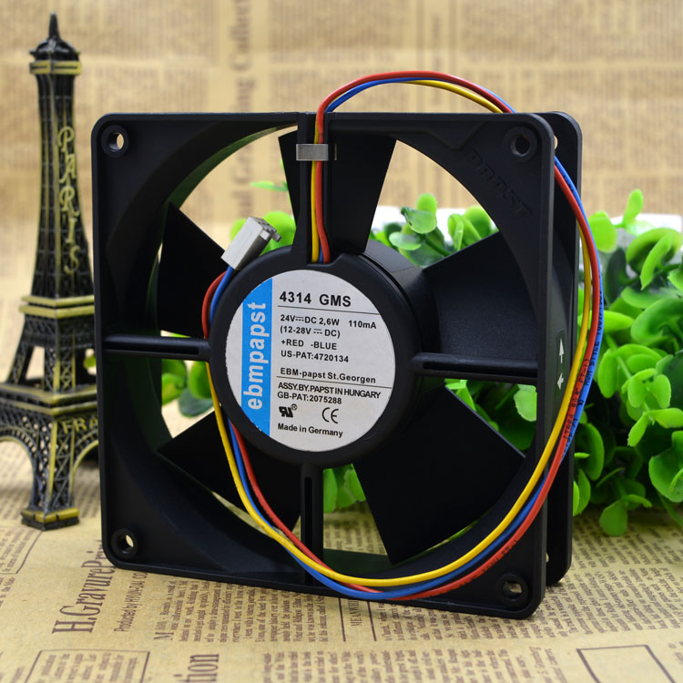 Free Delivery. 4314 GMS 24 v 2.6 W 120 * 120 * 32 three line dc fan free delivery 811600 4623