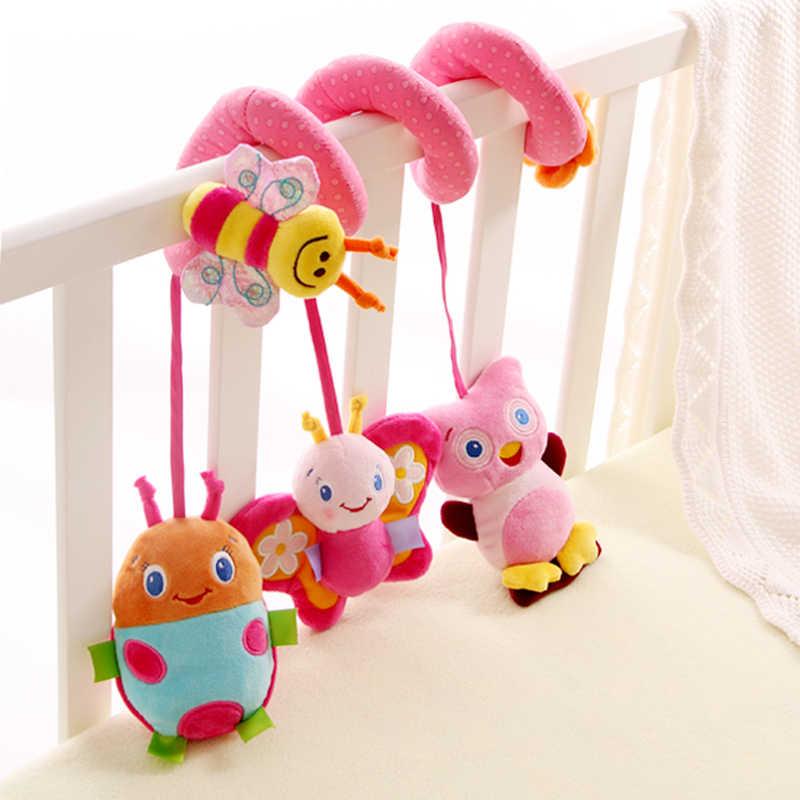 ألعاب الأطفال للأطفال 0-12 أشهر أفخم حشرجة سرير دوامة شنقا المحمول الرضع الوليد عربة السرير الحيوان هدية سعيد قرد