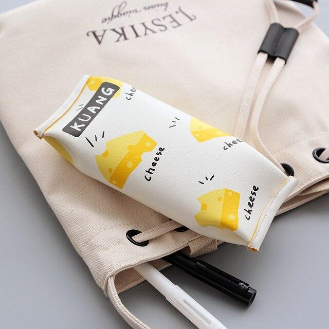 Милый пенал для детей каваи Искусственная кожа пенал канцелярские мешок творческий снэк-мешок принт школьные принадлежности