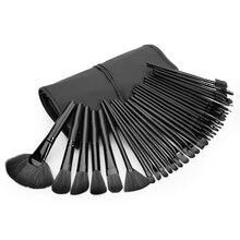 New 32pcs Fashion Black Make up Brushes Powder Foundation Blusher Eyeliner Makeup Brush with Set Cosmetics Case pincel maquiagem