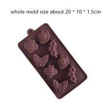 Wholesale Silica gel cake mold snail bee butterfly shaped Craft Soap Ice Cube Mould DIY Handmade Silicone Molds