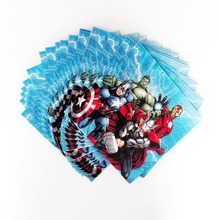 20pcs Avengers Paper Napkin Cartoon Theme Party For Kids Happy Birthday Decoration Theme Party Supply avengers party supplies