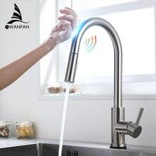 Smart Touch Kitchenก๊อกน้ำCraneสำหรับเซ็นเซอร์ห้องครัวก๊อกน้ำอ่างล้างหน้าหมุนTouchก๊อกน้ำSensorผสมKH 1005