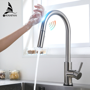 Image 1 - Smart Touch Kitchen Faucets Crane For Sensor Kitchen Water Tap Sink Mixer Rotate Touch Faucet Sensor Water Mixer KH 1005