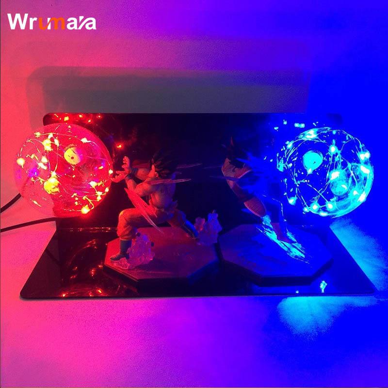 Wrumava Double Dragon Ball Son Goku Strength Bombs Luminaria Led Color Night Light Holiday Gift Room