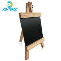 XINDI Mini Desktop Blackboard Pine Wooden Easel Chalkbord Kids Wood Black Board Collapsible Writing Boards With