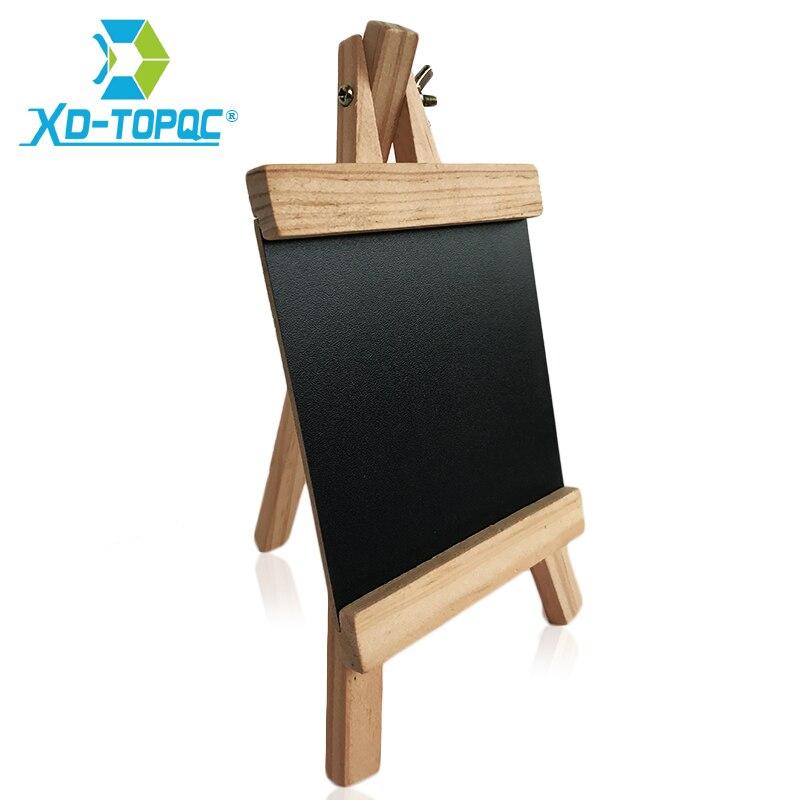 XINDI 12*23cm Mini Desktop Blackboard Pine Wood Easel Chalkboard Kid Wood Black Board Collapsible Writing Boards Free Chalk BB70