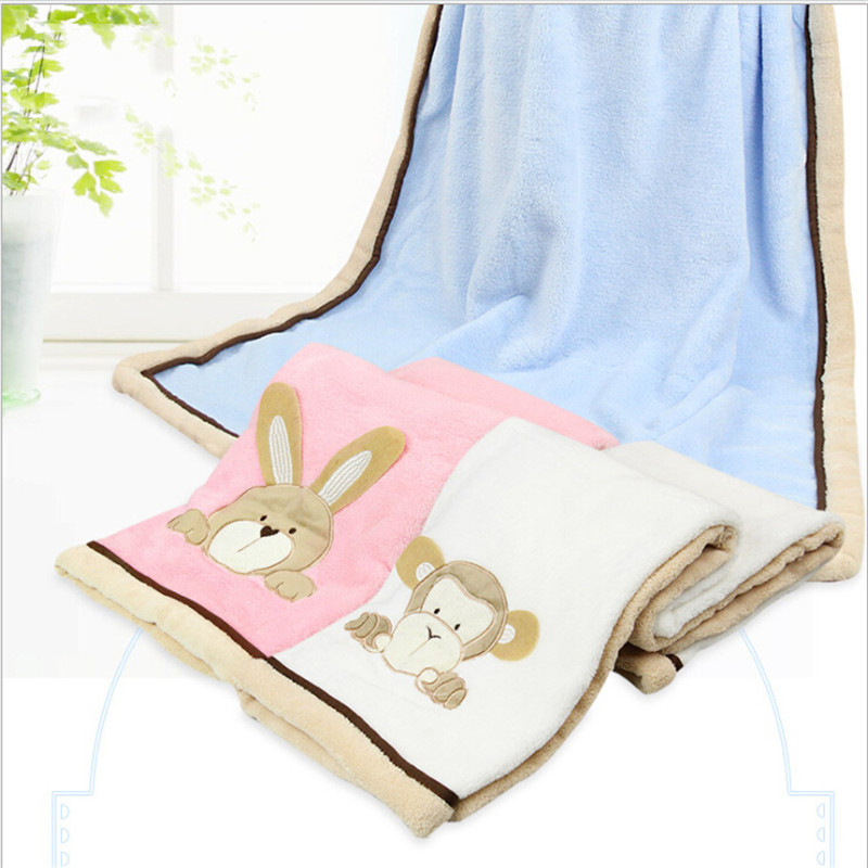 Baby Bedding 76*102cm Super Soft Polyster Baby Blanket Infant Crib Bedding Cartoon Monkey Rabbit Bear Blanket Newborn Gift For Boys Girls Mother & Kids
