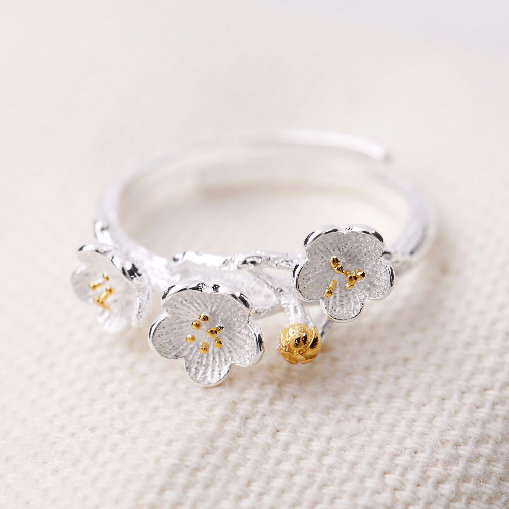 Online shop real pure 925 sterling silver daisy flower rings for online shop real pure 925 sterling silver daisy flower rings for women adjustable size wedding ring fashion sterling silver jewelry aliexpress mobile izmirmasajfo